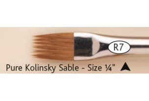 Rosemary R7 Pocket Pure Kolinsky Sable Comber ¼""