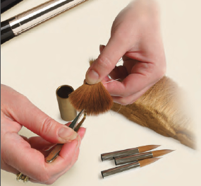 Handmaking a quality fine brush by Rosemary
