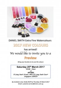 Introducing 7 exciting new colours from Daniel Smith.  We had fun exploring the new colours