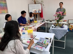Art Jam with Paul Wang.  This is a monthly segment.  Find out more and the next segment on our Facebook page