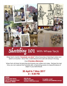 Sketching for beginners. Check out our Facebook page for more