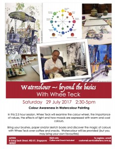 Water colour workshops Find out more on our Facebook page